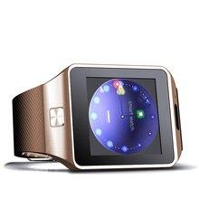 Reloj inteligente reloj con ranura para tarjeta Sim empuja mensaje conectividad Bluetooth teléfono Android mejor que DZ09 reloj inteligente reloj de los hombres