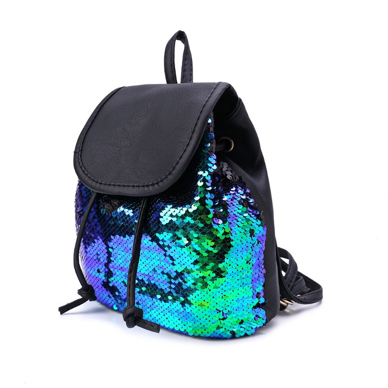 Flip Sequins Mini Backpack Small Rucksack Casual Daypack Purse for Teen Girls Gift for School Student in Backpacks from Luggage Bags
