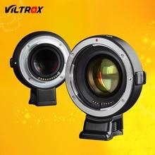 Viltrox Adaptador de Lentes de Enfoque Automático de Velocidad Reductor de Refuerzo para Canon EF EOS Lente para Cámara Sony NEX NEX-7 A6300 A7 A7RII A7SII A6500