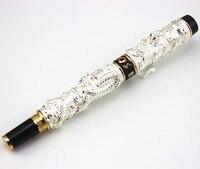 Marker Stationery JINHAO Brand Silver Dragons Roller Ball Pen Cute Ball Pen School Supplies Christmas Gift