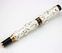 Marker Stationery JINHAO Brand Silver Dragons Roller Ball Pen Cute Ball Pen School Supplies Christmas Gift
