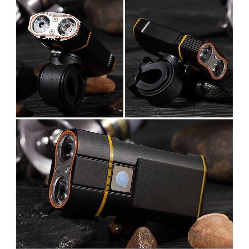 Новый велосипед Велосипедный спорт 1600 люмен светодиодный фонарик USB Перезаряжаемые руль фара езда на велосипеде лампы с хвостом свет компл...