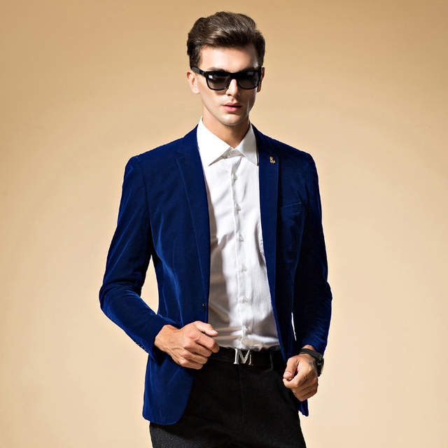 301f9fdc119 placeholder Mens blazer high quality suit jacket korean fashion velvet blue  blazer Male casual jacket single breasted