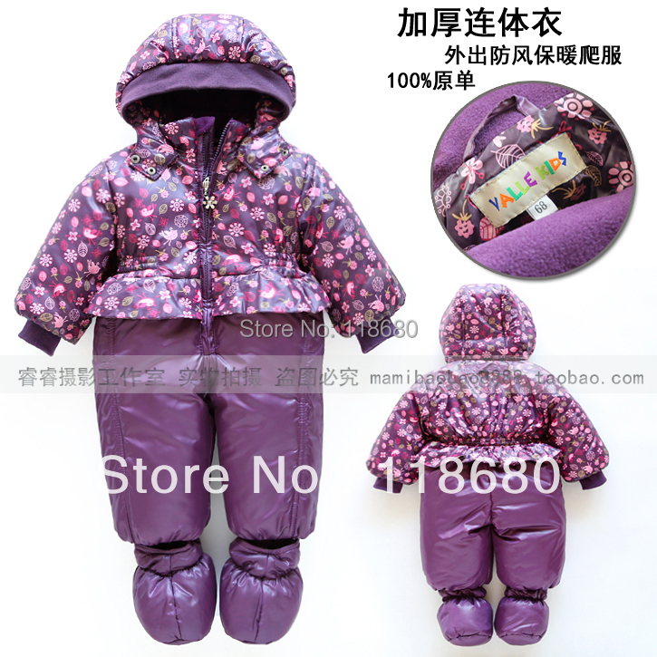 girl's Fashion autumn winter rompers baby clothes baby girl princess all-match jumpsuit newborn purple lovely rompers