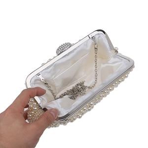 Image 5 - Women messenger beaded women vintage evening bags imitation pearl shell women bag shoulder bags,diamonds clutch bag for wedding