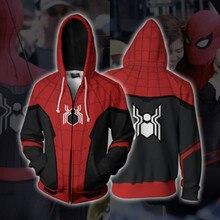 3D Print Marvel Spiderman Far From Home Cosplay Costume Sweatshirts Hoodie Men Women College clothing Top 2019