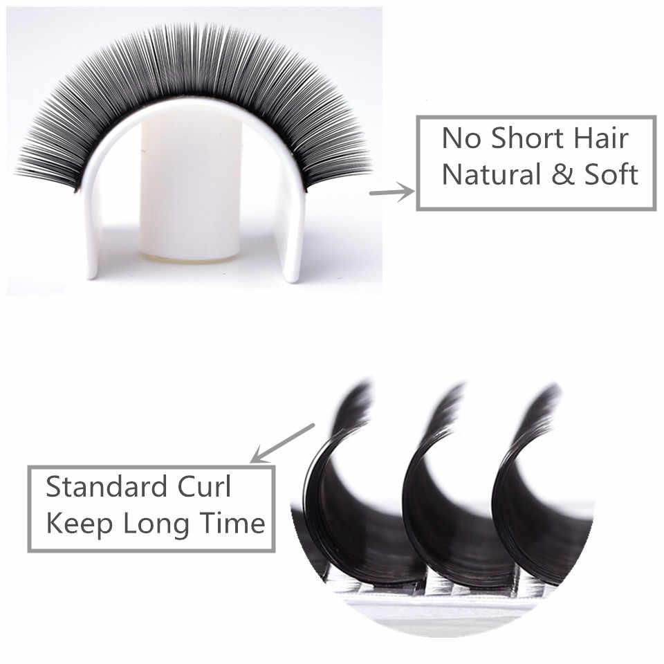 facac307f05 ... NEWCOME Eyelash Extension Natural Individual Mink False Eyelashes  Classic Eye Lashes Extension Soft Silk Eyelashes ...