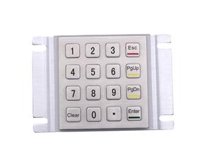 Metal Keypad Vandal Proof Rugged Panel Mount Stainless Steel Keyboard for Kiosk USB Industrial Keyboard With 16 Keys 4x4 Matrix(China)