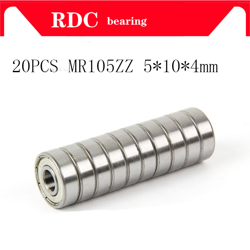 20Pcs ABEC-5 MR105ZZ MR105Z MR105 ZZ L-1050 5*10*4 5x10x4 Mm Metal Seal Shielded Miniature High Quality Deep Groove Ball Bearing