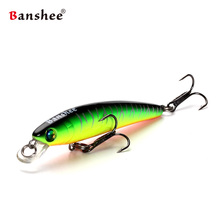 Banshee 70mm 4.5g Slow Sinking  Rattle Sound Wobbler Artificial Hard Bait For Trout Bluegill Fishing Lure Jerkbait Minnow