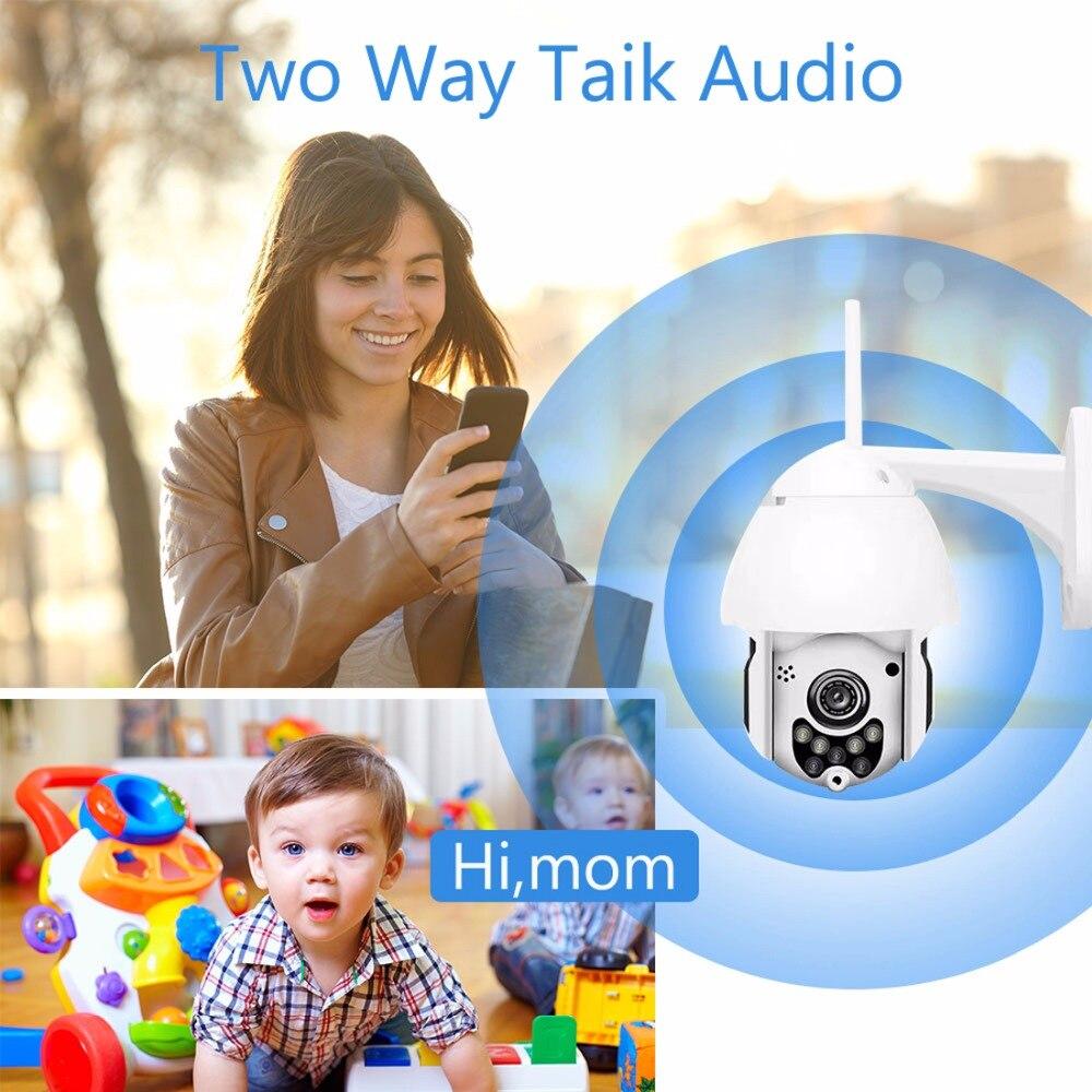 1080 P 2MP IP cámara inalámbrica Wifi CÁMARA DE VELOCIDAD domo PTZ al aire libre IP66 Onvif dos vías de Audio IR CCTV seguridad vigilancia cámara exterior - 5