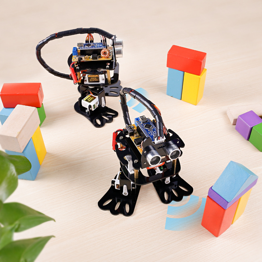 Image 4 - Sunfower DIY 4 DOF робот комплект Ленивец обучающий комплект для Arduino Nano DIY робот-in Интегральные схемы from Электронные компоненты и принадлежности on AliExpress