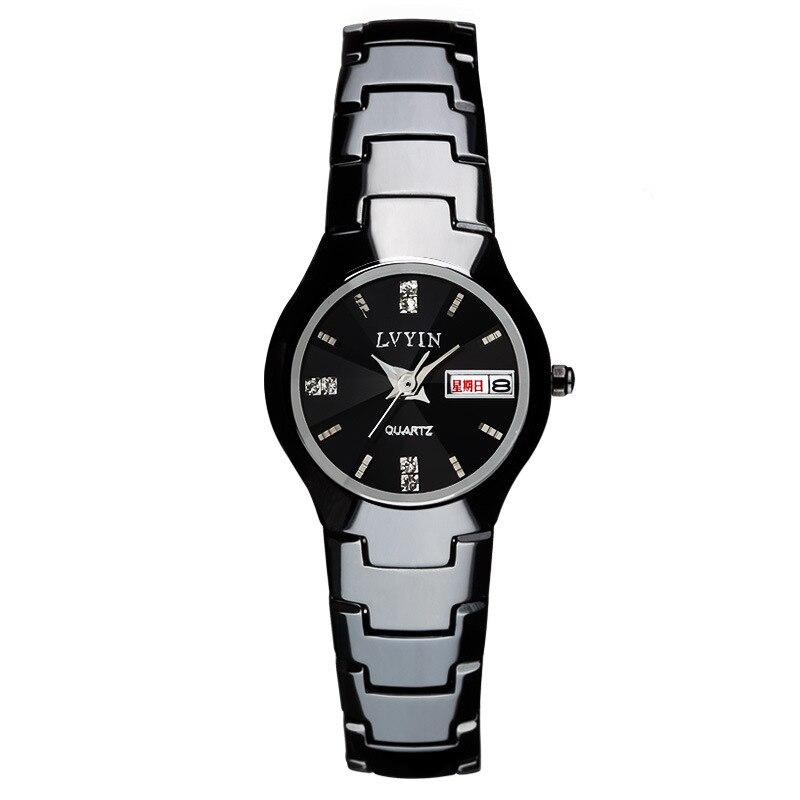 Luxury Womens Watches Ceramic Black White Female Clocks Lvyin Brand Woman Watches Waterproof Quartz Diamond Ladies Wristwatch