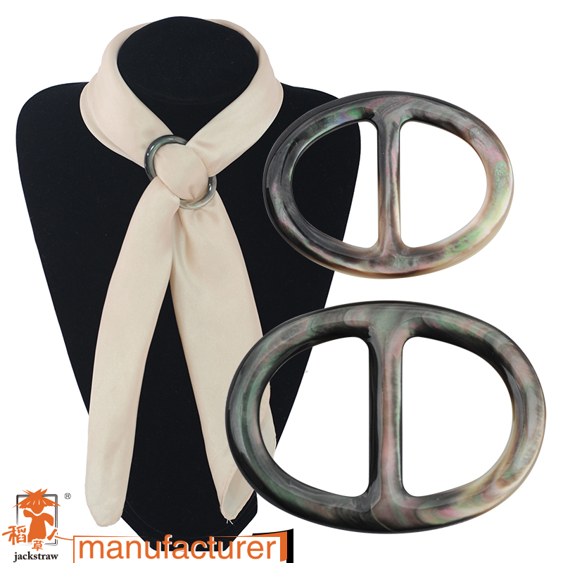 cnjackstraw thickening oval shells, word buckle ornaments, super texture black chain.scarves buckle