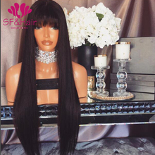 Hot Sale 8A Perruque Cheveux Humain Full Lace Wigs 150 Density Glueless Virgin Silky Straight Full Lace Wig Brazilian Hair Wigs