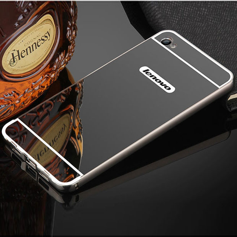 For Lenovo S90 Case Luxury Plating Aluminum Metal Frame & Mirror Acrylic Hard PC Back Cover For S90 S90T S 90 Phone Cases Fundas