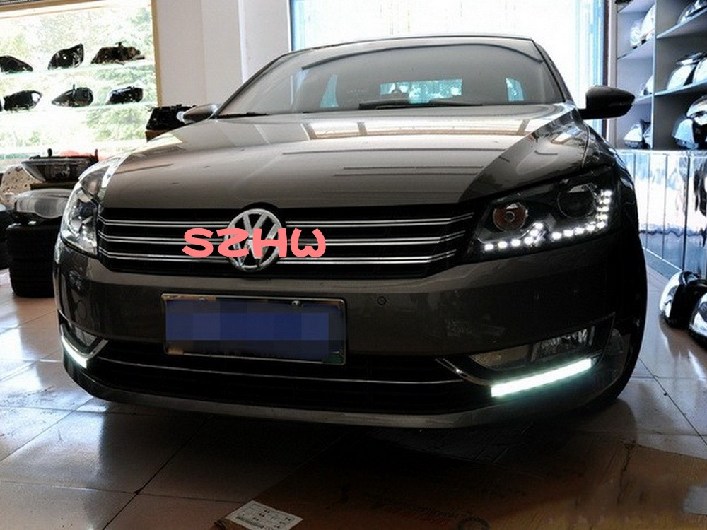 July King LED Daytime Running Lights DRL With Fog Lamp Cover, 10LEDs Front Bumper Light Case for VW PASSAT B7 2011~14 1:1 july king led daytime running lights drl with fog lamp cover led fog lamp case for volkswagen passat b7 2011 14 l type