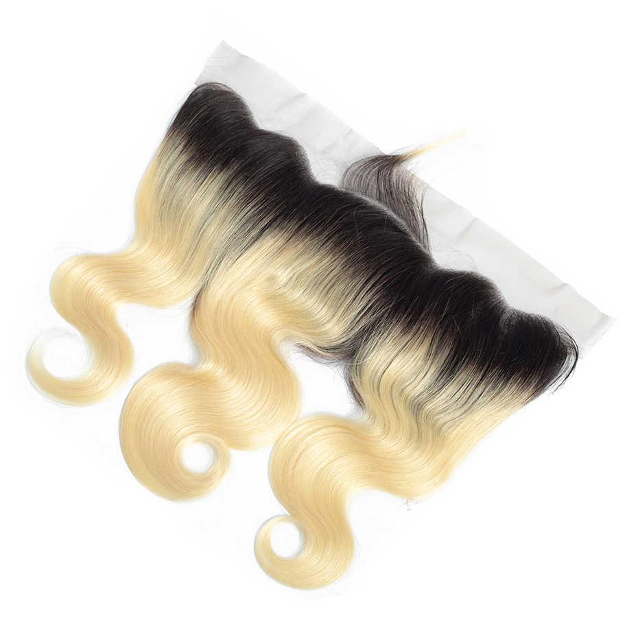 Блонд 1B/613 13*4 Кружева спереди al закрытие не Реми бразильские волнистые человеческие волосы кружева спереди заказ с сеткой с волосами младенца