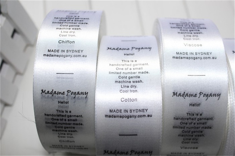 Free Shipping Eco-friendly washable clothing label satin polyester care  labels garment Tag 1000pcs a lot