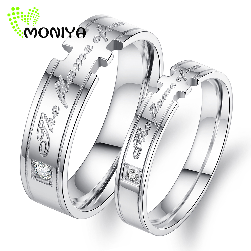 moniya creative stainless steel couple rings for men women promise wedding engagement band jewelry gift factory price hj128 - Creative Wedding Rings