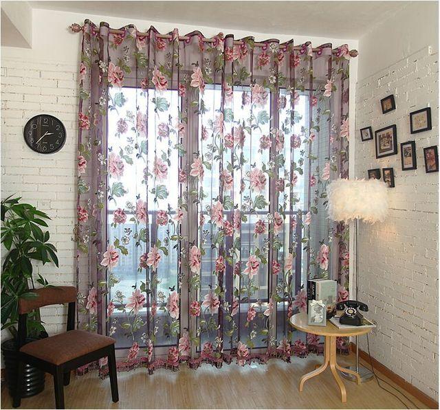 Moda tulle para Windows lujo translucidus cortinas para la cocina ...