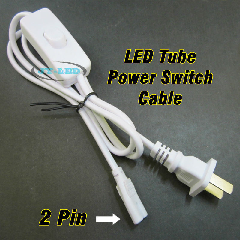1 Meter T5 <font><b>T8</b></font> LED Tube Power Switch Connector Cable Rope with US <font><b>Plug</b></font> For 2 Pin 3 Pin LED Tube Lighting connect image