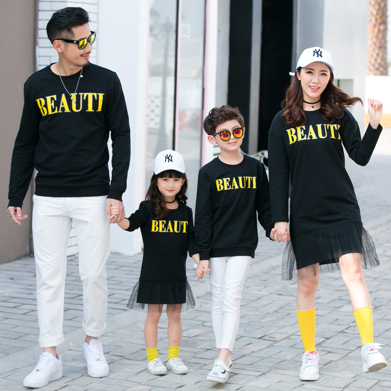 New Parent Children Hoodies Mother Kids Mama Mommy and Me Clothes Like Father Like Son Shirts Sweaters Family Matching Outfits
