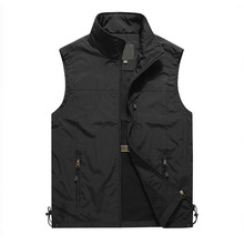 New Multi Pocket Thin Summer Men Vest Casual Photographer Outerwear Sleeveless Jacket Outdoor Sports Quick Drying Male Waistcoat