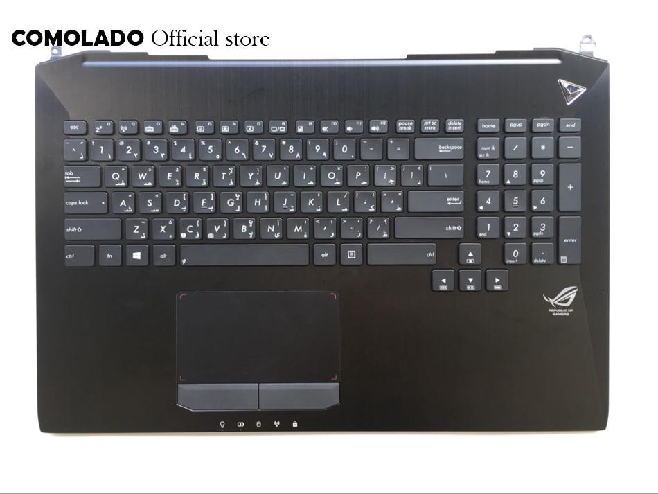 AR Arabic keyboard for Asus G750 G750JH G750JM G750JS G750JW G750JX G750JZ with Backlit palmrest topcase AR Layout new persian keyboard for asus g750 g750jx g750jw g750jh g750jm fa laptop keyboard with backlit and palmrest upper