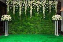 Laeacco Parede Da Flor Do Casamento Adereços Cenários Para Estúdio de Fotografia Fotografia Fundos Fotográficos Personalizados Digitais