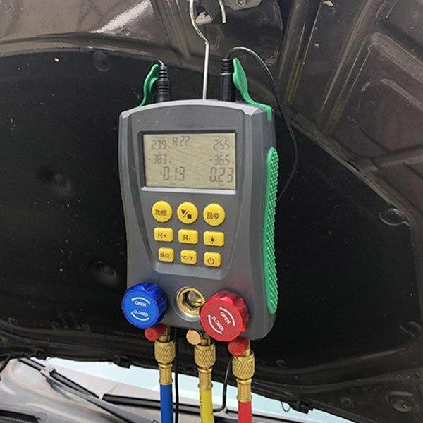 Manómetro Digital Testador De Pressão De Refrigeração 2-Way Válvula HAVC Ferramenta incluída Tester @ 8 JDH99