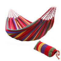 2017 Hot 190 X 80cm Hammock Portable Outdoor Garden Sports Home Travel Camping Swing Canvas Stripe