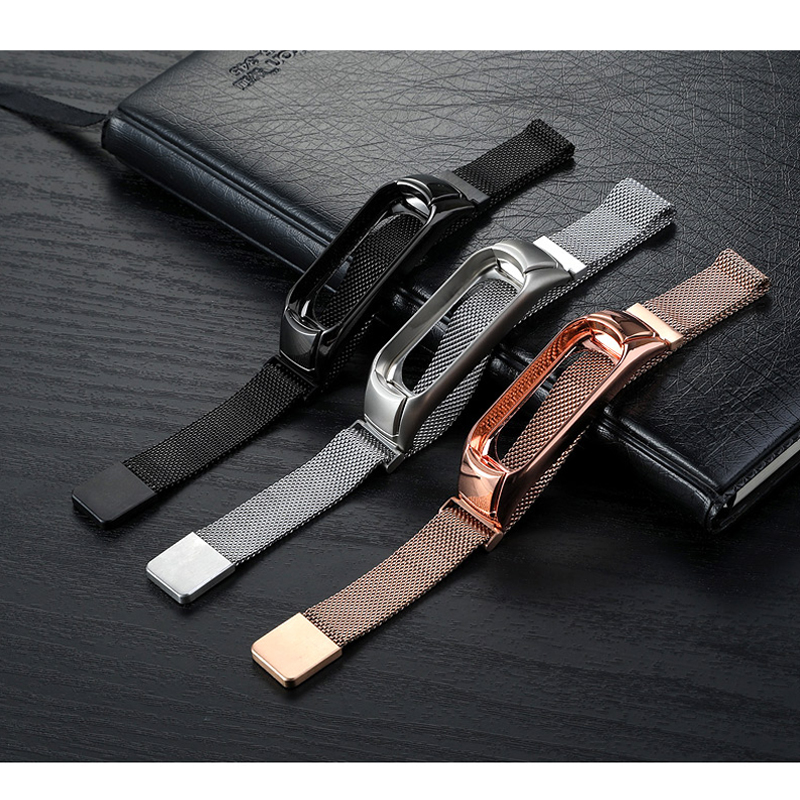 Milanese loop Band strap For Xiaomi Mi Band 3 Wrist Strap Classic Stainless Steel Bracelet Watchbands for MIband 3 Metal BuckleMilanese loop Band strap For Xiaomi Mi Band 3 Wrist Strap Classic Stainless Steel Bracelet Watchbands for MIband 3 Metal Buckle
