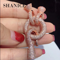 SHANICE Round Full Crystal Clasps Hook Locket Connectors Fit For Hand Made DIY Multi-Strand Pearls Necklace Bracelet Accessories