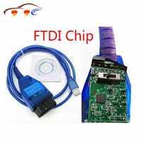 VAG Cable USB con Chip FTDI Vag USB OBD2 herramienta de escáner interfaz para accesorios de coche Fiat