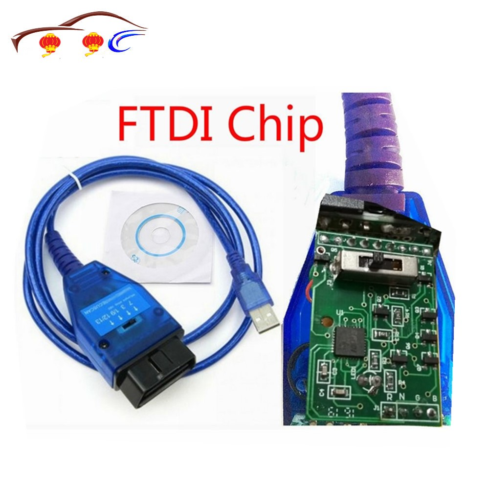 VAG Cabo USB com o Chip FTDI Vag USB OBD2 Scanner Scan Tool Interface Para acessórios Do Carro Fiat