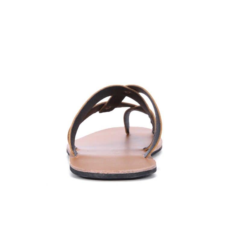 b0e5d07e1e ... Summer Men Sandals 2019 Mens Gladiator Sandal Flat Heel Breathable  Shoes Casual Mens Shoes Beach Sandals