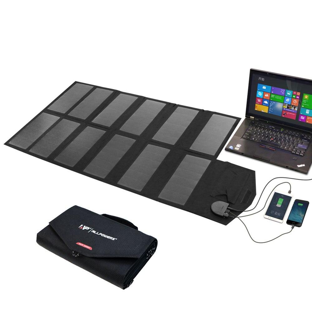 ALLPOWERS 80 Вт Зарядное устройство s 5 В 18 В солнечный телефон Зарядное устройство ноутбука Зарядное устройство для iPhone iPad Macbook samsung htc sony LG acer Hp ASUS
