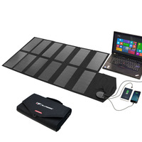 ALLPOWERS Foldable Portable Solar Panel Charger 80W Charge for iPhone iPad Macbook Samsung HTC Sony LG Acer Hp ASUS Dell.