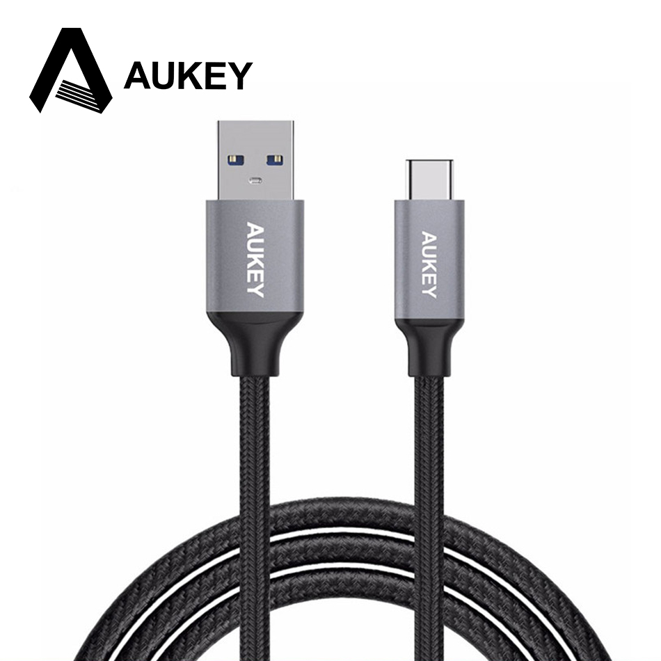 aukey official store AUKEY USB 3.0 Nylon Braided Type-C Cable USB A to Type C Cable for Macbook Google Pixel Xiaomi Mi5 Meizu Pro 6 Huawei P9 LG G5