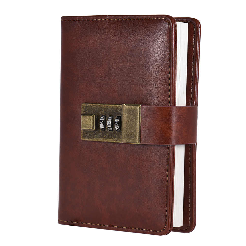 A7 Pocket Notebooks Journals Planner Agenda Diary Book with Password Lock Office Supplies Creative Stationery for Students