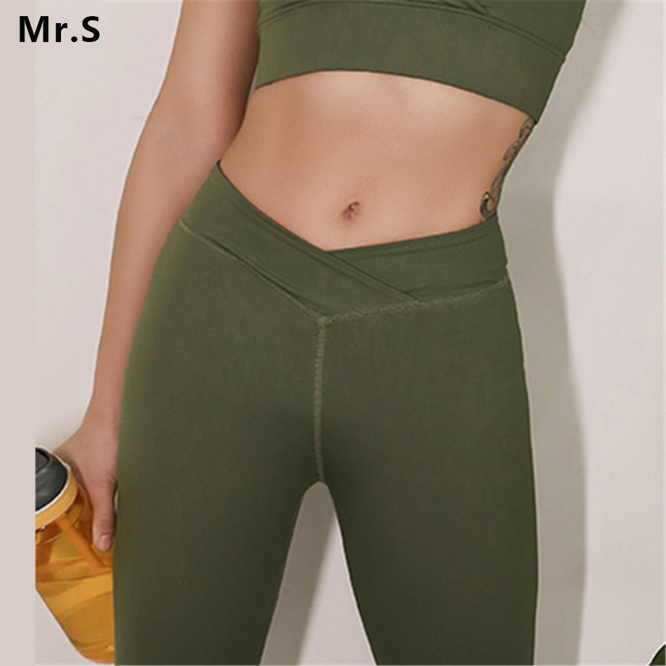 High Waist Push Up Running Yoga leggings for Women Sports Fitness Compression Pants Gym Olive Green Tights Ropa Deportiva Mujer