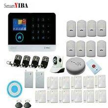 SmartYIBA Touch Panel 3G WCDMA Burglar Alarm System Home Security system App Remote Control Wireless Siren Video IP Camera
