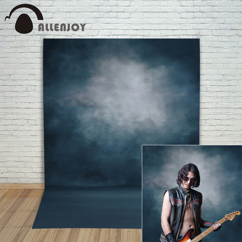 Allenjoy photo backdrops Tumši zila tīra krāsa pasteļprofesionāls fotofons, lai fotografētu fotostudiju