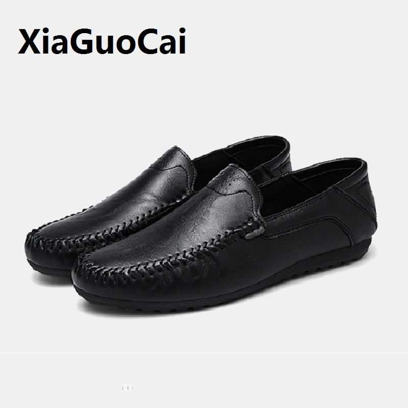 Men's Casual Shoes Leather Breathable Flat Shoes Driving Shoes Slip on Boat  Loafers Hight Quality Driving Flats klywoo breathable men s casual leather boat shoes slip on penny loafers moccasin fashion casual shoes mens loafer driving shoes