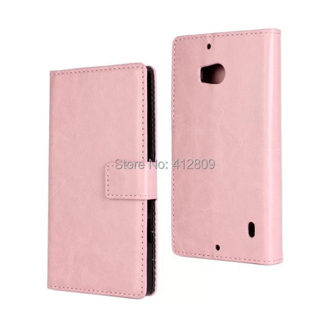 1PCS Fashion 9 Colors Crazy Horse Grain Leather Skin Cover Case for Nokia Lumia 930 with ID Card Holder Cellphone Bags Free