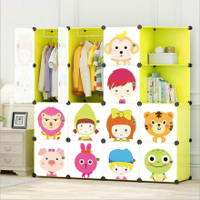 Новые детские Мультяшные пластиковые сборные шкафчики для одежды DIY шкафы для хранения, шкафы, композиция из смолы, здоровые для детей
