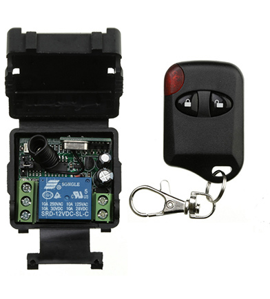 Dc12v 24v 1ch 1 Ch Wireless Remote Control Switch System Receiver+cat Eye Transmitters Gate Garage Door/window /lamp /shutters High Quality Home Electronic Accessories