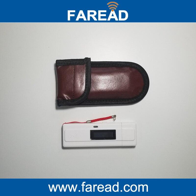 Pet ID Scanner Mini pocket  RFID  microchip ear tag reader for Animal identification with ISO11784/5 FDX-B or EMID iso11784 5 fdx b em4305 long range 134 2khz rfid animal ear tag for cow sheep management