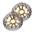Arashi Front Brake Disc Rotors Set For Honda CB400 SF CB1 CB400 SF/Superour CB600 Hornet Golden